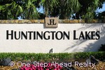 Huntington Lakes community sign